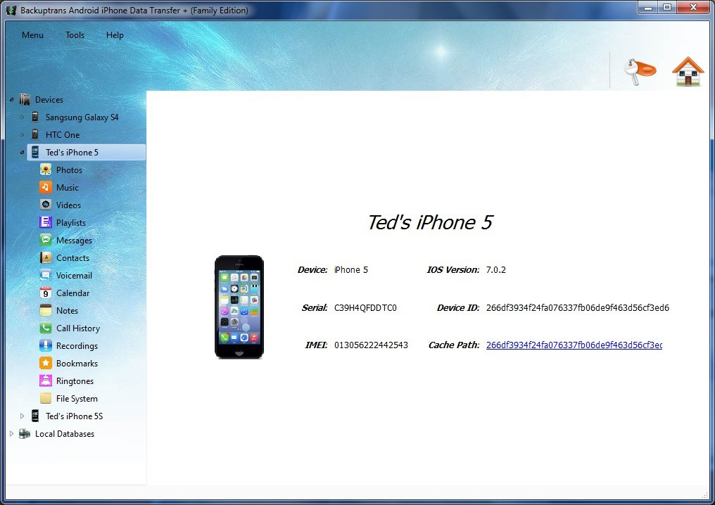 Windows 7 Android iPhone Data Transfer + 3.1.05 full