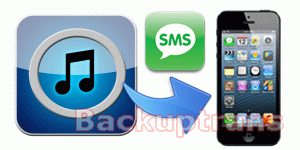 how to copy and move SMS from iTunes backup to iPhone 5