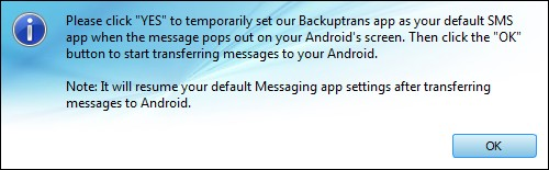 Start to Transfer SMS MMS to Nexus 5 Hangouts from Android Phone