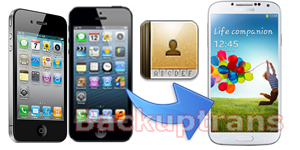 transfer Contacts from iPhone 3GS/4/4S/5 to Galaxy S4