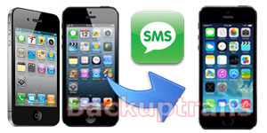 Transfer SMS from iPhone 5/4S/4/3GS to iPhone 5S