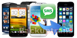 Transfer SMS Text Messages from Android to iPhone 5S