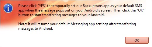 Start to Transfer SMS MMS Messages from iPhone to Nexus 5 Hangouts