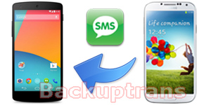 Transfer SMS MMS to Nexus 5 Hangouts from Android Phone