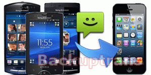 how to transfer SMS to iPhone 5 from Sony Ericsson Xperia Arc/Neo/Ray/Mini etc