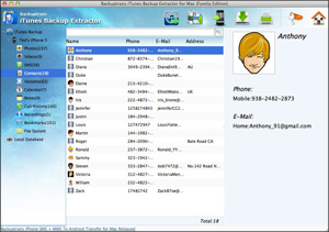 iTunes Backup Extractor for Mac Screenshot