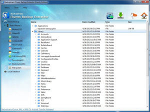 iTunes Backup Extractor Screenshot