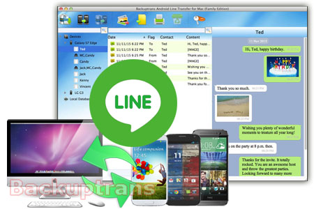 Backup & Restore Line Chat History for Android (No Root Required) Android-line-transfer-software