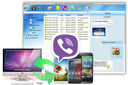 Backup & Restore Viber Messages for Android (No Root Required) Android-viber-transfer-software
