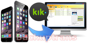 Backup Kik Messages from iPhone to Computer