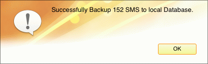 backup iPhone SMS to Mac successfully
