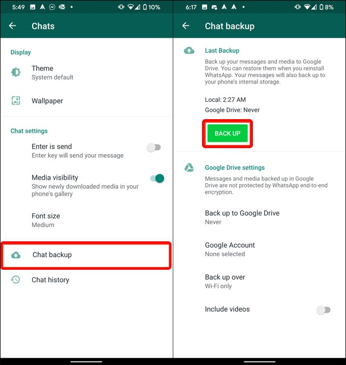 Decrypt & Read Chats from WhatsApp Backup File on Android