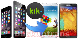 Copy Kik Messages from iPhone to Android