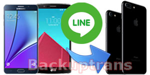 Copy Line Chat Messages from Android to iPhone 7 Plus