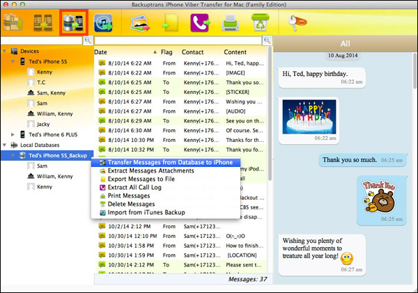 Copy All Viber Chat History from Mac to iPhone