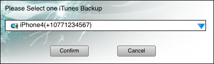 confirm to extract text messages from iTunes backup on Mac