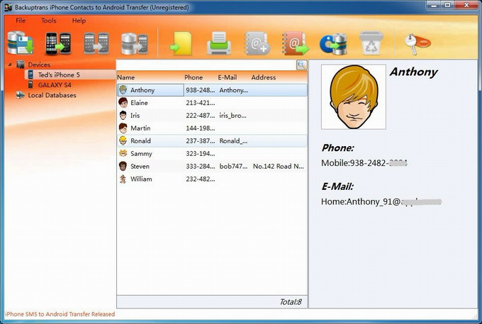 transfer Contacts from iPhone to Android on PC main