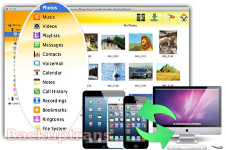 Transfer Photos & Music between iPhone, iPad, iPod touch and Mac Iphone-data-transfer-software