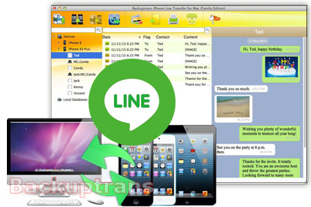 iPhone Line Transfer - Backup iPhone Line Chat History to Computer Iphone-line-transfer-software