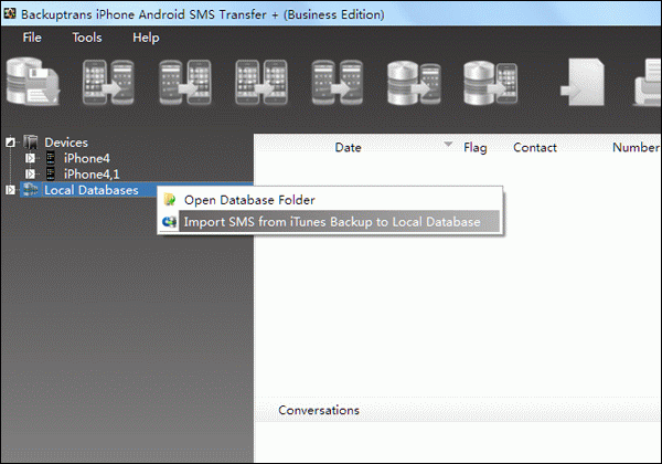 Backup SMS from iPhone with iOS 6