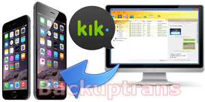 Restore Kik Messages to iPhone