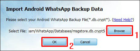 Extract Android WhatsApp Messages from Backup File