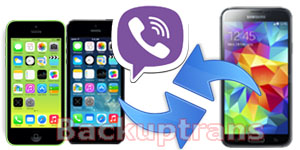Transfer Viber Message History between iPhone and Android on Mac