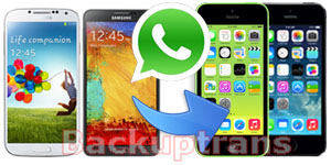 Transfer WhatsApp Chat History from Android to iPhone 5C/5S